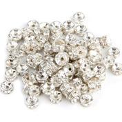 Skyllc® 100 X Findings Silver Tone Metal Spacers Beads Caps 6mm CHIC