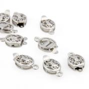 Skyllc® 20x Unique Silver Jewellery Necklace Bracelet Clasp Hook 10x12MM