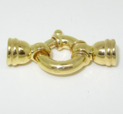 Spring Ring Clasp 375 gold for cords and Bead Chain 7 mm DIY by DIY Express GmbH