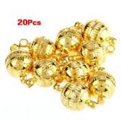 Gleader 20pcs Necklace Bracelet Gold tone Clasp Magnetic Buckle HOT