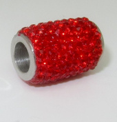 2 Red Strass 304 Stainless Steel Magnet Occupied Tops for 6 mm Piping On DIY from Craft Express