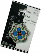 The Bead Cafe Flower Ceramic Pendant, Multicolour