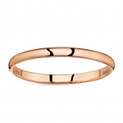 ODN Jump Rings Rose Golden Plated Polish Comfort Fit Thin Domed steel Carbide Ring Wedding Band