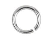 5 x Solid Sterling Silver Jump Rings - Open 6mm Good Quality Heavy Strong