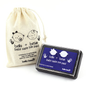 Blue Baby Footprint Kit - Baby Safe Ink Pad - Easy to Wash Off