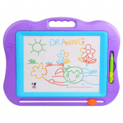 Large Magnetic Colourful Erasable Baby/Kids Skill Development Drawing Board Blackboard 30×22cm, Purple