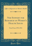 Nih Support for Research on Women's Health Issues