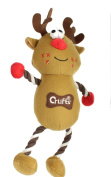Crufts Squeaky Christmas Reindeer Pet Dog Toy