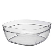 Duralex Square Stacking Glass Cooking / Ingredients Bowl - 23cm - Pack of 1