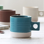 HAN-NMC Large Capacity Coffee Mug Breakfast Milk Cup Ceramic Cup Cup 400Ml