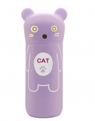 Cat Shaped Silicone Gold Mug for child, Purple, Stainless Steel, 24 x 6 x 6 cm