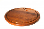 Solid Wood Round Board Iroko Wood Carving Table Green 1005 diamèrtre Diameter 29.5 cm