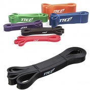 Tutoy Black Fitness Elastic Belt Resistance Bands Strength Training Exercise Pulling Strap