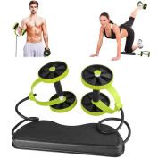 K-DD New Sport Core Double AB Power ab roller ab wheel fitness Abdominal exercises Equipment coaster Pull roda Waist Slimming Trainer
