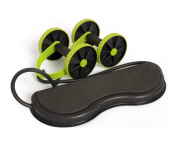 Home Health Abdominal Wheel AB Roller with Mute Tension Rope Portable Home Fitness Round Wheel