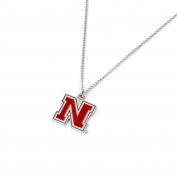 aminco Women's NCAA Nebraska Cornhuskers Team Logo Necklace, Red, 46cm