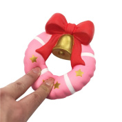 UBabamama Exquisite Fun Stress Relief Vent Hand Simulation Doughnut Bell Scented Squishy Charm Strap Slow Rising Kid Toy Gift