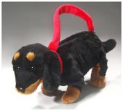 Dachshund Dog as purse or hand bag, 11 inches, 30cm, Plush Toy, Soft Toy, Stuffed Animal