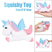 Dreamlike Unicorn Scented Squishy Toys, HOMEBABY 13cm Slow Rising Squeeze Toys Cream Scented Decompression Toys Fun Toy Gift Kids Soft Toy Jumbo Collection Easter Gift Phone Strap