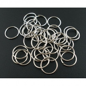 100 x Silver Tone Open Jump Rings - 10mm - L03125 *