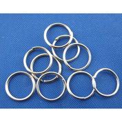 100 x Antique Silver Colour Open Jump Rings - 8mm - L00311