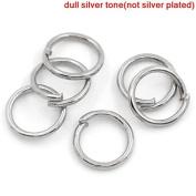 400 x Antique Silver Colour Open Jump Rings - 6mm - L00171