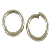 Pandahall 1kg Platinum Colour Iron Jump Rings, Close but Unsoldered, about 5500pcs/500g, 0.7mm thick, 6mm in diameter