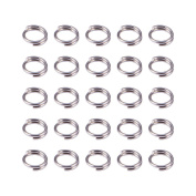 Pandahall 10g Original Colour Double Loops Stainless Steel Jump Rings, 5x1.2mm, Jewellery Findings