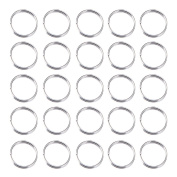 Pandahall 50 g Silver Tone Double Loops Iron Jump Rings, 10mm in diameter, 1.0mm thick