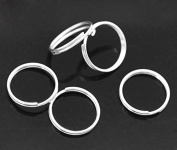 150 x Silver Plated 12mm Double Loop Open Jump Rings Connect Findings for Jewellery Making Bling