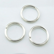 11110 Pack of 10 Open Jump Rings 1.5mm Thick Assorted Sizes Silver - 14 mm