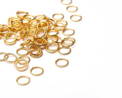 Beads Unlimited 8 mm Gold Plated Metal Jump Ring, Pack of 100