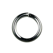 Bead House 500-Piece 5 mm Black Plated Jump Ring