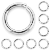 20 x Solid Sterling Silver Jump Rings - Open 6mm Good Quality Heavy Strong