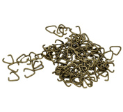200 Bronze Tone Triangle 10mm Open Jump Rings Findings for Jewelley Bling Making and other Crafts