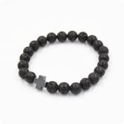 Wawer Lava Charm Volcanic Stone Personalised Bracelets Wristband Popular Boys Girls Imperial Crown Braids Make Bracelets Gift