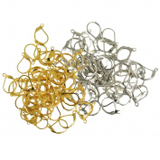 Sharplace 100pcs French Lever back Earrings Hooks Open Loop Jewellery Making Finding