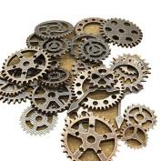 100g Vintage Cogs Jewellery Making DIY Alloy Steampunk Gear Pendant Crafts Art