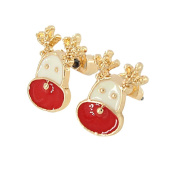 Nikgic A Pair Alloy Cute Deer Studs Elegant Woman Earrings Chic Girls Earrings