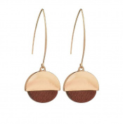 Nikgic A Pair Personality Wood Grain Eardrop Elegant Woman Earrings Chic Girls Earrings