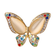 Nikgic Fashion Butterfly Shape Opal Brooch Simple Stylish Brooch Exquisite Scarf Buckle