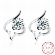 MOMO Fashion Trend Earrings Personalised Penrings Women / Stainless Steel / Anti-allergy / Silver Flashing / Diamonds / White Crystal / Small and Exquisite