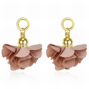 MOMO Women Fashion Simple Non-woven Fabric Flower Alloy Earrings / Stainless Steel / Anti-allergy / Small and Exquisite