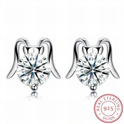 MOMO Fashion Trend Earrings Female Earrings Small and Exquisite / Stainless Steel / Anti-allergy / Silver Flashing / Diamonds / White Crystal