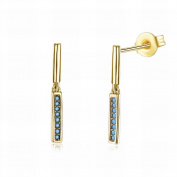 MOMO Turquoise Earrings High Fashion Earrings Fashion High-end Earrings / Small and Exquisite / Anti-allergy / Zirconia Made