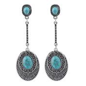 Lanaso Retro Bohemia Drop Dangle Earrings Tear Drop Dangle Earrings Hook Drop Jewellery with Pendant