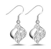 Lanaso Drop Dangle Earrings Silver Earring Drops Hook Earrings Pendant Earrings for Girls Birthday