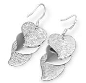 Lanaso Heart Dangle Earrings Silver Earring drops Drop Dangle Earrings Hook Drop Jewellery