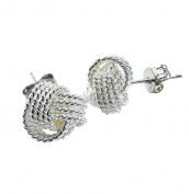 Lanaso Twisted Studs Earrings Jewellery Earring Sterling Earring Ear Stud Jewellery Claps Gifts