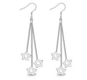 Lanaso Star Drop Dangle Earrings Hook Drop Earrings Silver Earring drops Earrings with Star Pendant Dangle Earrings Party Gifts